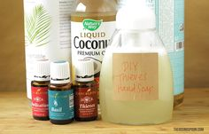 Homemade Moisturizing Foaming Hand Soap With Germ Busting Essential Oils