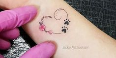 New Ideas Dogs Paw Tattoo Heart - You are in the right place about New Ideas Dogs Paw Tattoo Heart Tattoo Design And Style Galler - Tattoo Side, Family First Tattoo, Wrist Tattoos For Women, Small Wrist Tattoos, Tattoo Small, Small Heart Wrist Tattoo, Animal Tattoos For Women, Dog Tattoos, Cat Tattoo