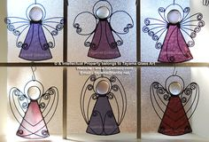 Angels - Purple Stained Glass https://www.facebook.com/groups/TayamaCrafts/