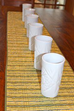 My 6 white vases!