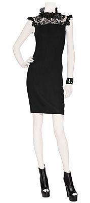 D DOLCE & GABBANA Black Lace Inset Dress