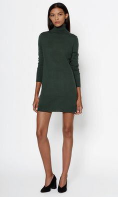 EQUIPMENT OSCAR CASHMERE TURTLENECK DRESS. #equipment #cloth #