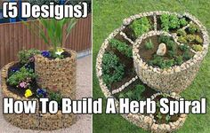How To Build A Herb Spiral, gardening, garden, herb, herbs, herb garden, homesteading, easy garden projects, herb spiral, food,