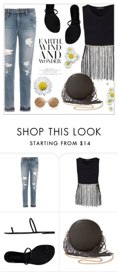 """Wonder"" by christinacastro830 ❤ liked on Polyvore featuring Joe's Jeans, Casadei, Deux Lux and Victoria Beckham"