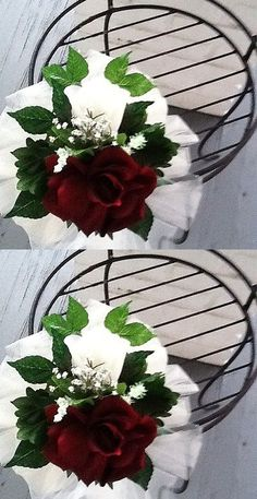 Ribbons and Bows 20941: 20 Wedding Pew Bows Burgundy And White Or You Chose Your Color -> BUY IT NOW ONLY: $80 on eBay!
