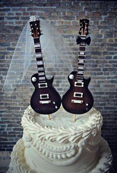 Electric guitarweddingcake by MorganTheCreator on Etsy, $48.00
