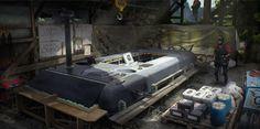 ArtStation - Drug smuggling autonomous underwater vehicle, Gregor Strnad