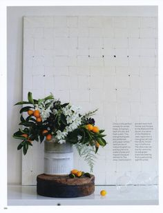 Brining Nature Home, with arrangments by, Nicolette Owen…I am totally inspired.