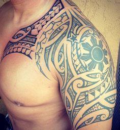 maori tattoos all kar Tribal Tattoos With Meaning, Filipino Tribal Tattoos, Tribal Tattoos For Men, Samoan Tattoo, Trendy Tattoos, Tattoos For Guys, Polynesian Tattoos, Tattoo Maori, Samoan Tribal