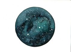 Original watercolor painting Stars Space art Galaxy by bluepalette, $20.00