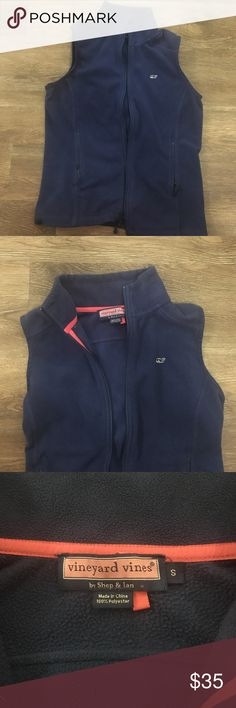 Navy Blue VV vest. Perfect condition. Super cute lightweight navy blue vest to wear over flannels or anything really! Selling cause I grew out of it. Vineyard Vines Jackets & Coats Vests
