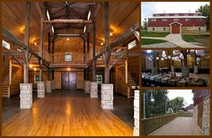 you could get married in here, then walk the 100 ft to the round barns for the reception