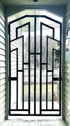 Simple Front Door Grill Design For House - Cleverkina Window Grill Design Modern, Grill Door Design, Door Gate Design, Fence Design, Modern Design, Door Grill, Tor Design, Front Door Entrance, Rustic Doors