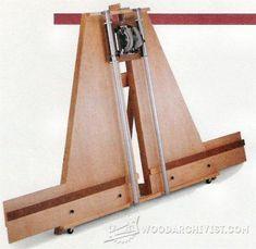 Circular Saw Crosscut and Miter Jig - Circular Saw Tips, Jigs and Fixtures | WoodArchivist.com