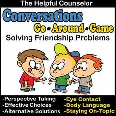 Help kids work out friendship problems problems with their friends with this game. Kids will learn how to address conflict in a health positive way. No more putting up with frenemies and relational aggression! Social Skills Activities, Counseling Activities, Group Counseling, Help Kids, Kids Work, Conflict Resolution Activities, Friendship Problems, Play Therapy Activities