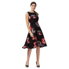 a9969f91a8 The Collection Black poppy print knee length tea dress
