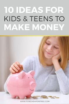 It's important to teach our kids to work hard and learn how to manage money while they're young. I'm talking about 10 easy ways for kids and teens to make money. They will get to work on their entrepreneurial skills and gain a little work ethic, too!