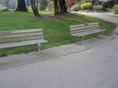 Benches without armrests
