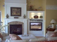 Mounted TV Presentation Design, Pictures, Remodel, Decor and Ideas - page 5 like TV and shelves embedded in wall