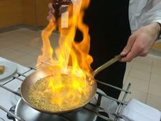 El arte de flambear ante el cliente.