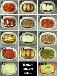 """Eggplant/Zucchini """"lasagna"""" - ground beef but no noodles.  Yummy!"""