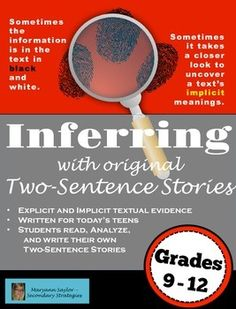 inferences and assumptions how to tell them Making inferences and predictions assumption: readers make them all the time an inference is something a reader knows from reading, but the author doesn [t include it in the book making inferences and predictions 6.