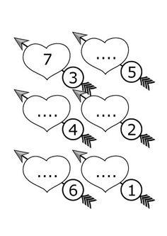 Valentijnsdag werkblad rekenen. Ik heb een klein werkboekje gemaakt voor Valentijnsdag. Kinderen kunnen hiermee hun rekenensommetjes oefenen. Het gaat om het aavullen tot 10. Het getal in het hart en het getal op de pijl moet ste...