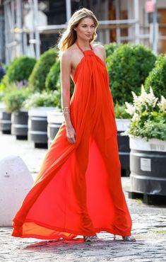 Jessica Hart Halter Dress - Jessica Hart Looks - StyleBistro