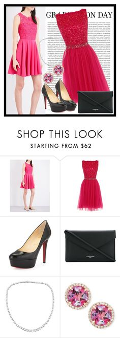 """""""517. Graduation Day"""" by diana97-i ❤ liked on Polyvore featuring Claudie Pierlot, Oris, Dorothy Perkins, Christian Louboutin, Lancaster, Frederic Sage, Graduation, PinkDress, lacedress and graduationday"""