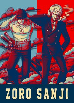 Zoro Sanji detailed, premium quality, magnet mounted prints on metal designed by talented artists. One Piece 2, Sanji One Piece, One Piece Ship, One Piece Fanart, One Piece Anime, Manga Anime, Sanji Vinsmoke, Band Wallpapers, Lost Boys