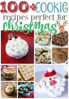 100 Cookie Recipes Perfect for Christmas - sweets Holiday Cookie Recipes, Holiday Desserts, Candy Recipes, Holiday Baking, Holiday Treats, Christmas Recipes, Christmas Foods, Holiday Foods, Holiday Fun