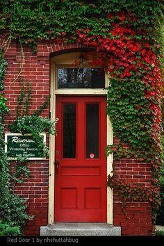 """Front door pictures - in Feng Shui, a red front door means """"welcome."""""""