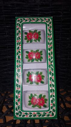 Check out this item in my Etsy shop https://www.etsy.com/ca/listing/578286561/poinsetta-napkin-rings-christmas-napkin