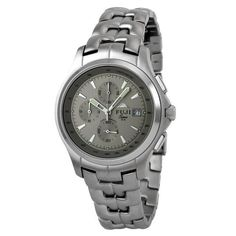 Fujitime Men's M2135-F ''Kannoji Series'' Grey Chronograph Stainless Steel Watch Fujitime. $92.00. Multifunction including date, chronograph and analog display. Water-resistant to 500 feet (150 M). Highest standard Japanese-Quartz movement; Hardlex scratch resistant crystal. Grey dial with three grey sub-dials for chronograph functions, tachometer around the dial, bold silver hour markers and date at 3 o'clock position. Stainless steel case with polished finish lin...