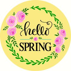 Hello Spring Door Hanger -Reusable Mylar Stencil, Easter Sign Stencils Happy Spring, Hello Spring, Spring Time, Sign Stencils, Spring Door, Door Hangers, Happy Easter, Doors, Crafty