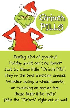 ... | gift's | Pinterest | Grinch, Grinch Pills and Printable Templates
