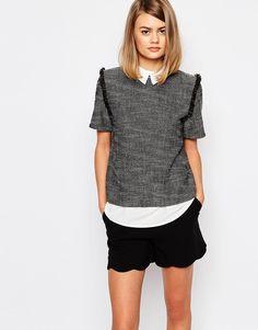 Image 1 ofSister Jane Tarot Double Layer Tweed Shirt Top
