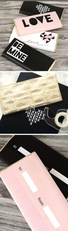Retro Printable Valentine's Day Chocolate Bar Wraps | DIY Valentine Gifts for Him | DIY Valentine Gifts for Boyfriend