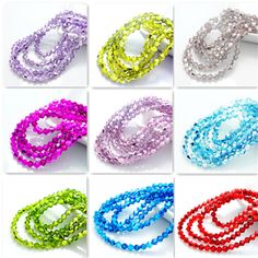 New color 200pcs bicone crystal glass loose spacer 4mm beads   | eBay