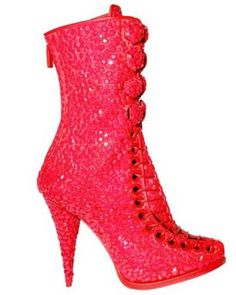 sparkly boots | Sparkly Red Shoes: Shoeperwoman's Ultimate Lust List >> Shoeperwoman