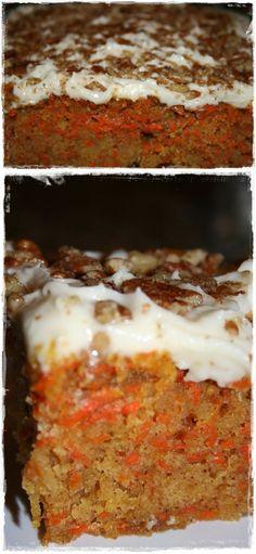 Low fat and low sugar carrot cake - my favorite diet dessert! Recipe inside