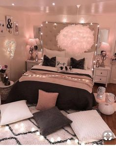 dream rooms for women - dream rooms . dream rooms for adults . dream rooms for women . dream rooms for couples . dream rooms for girls teenagers . dream rooms for adults bedrooms Room Ideas Bedroom, Bedroom Ideas For Small Rooms Women, Teenage Girl Bedroom Designs, Stylish Bedroom, Woman Bedroom, Bedroom Colors, Girl Bedroom Decor, Aesthetic Bedroom, Dream Rooms