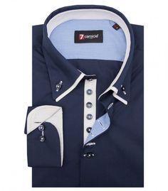 Camisas Donatello Popelín Azul
