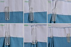 Great directions on a variety of pleat styles and how to achieve them with the same pleating tape. Hill Triple Pinch Pleat in 6 Steps
