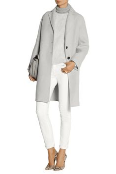 Light-gray alpaca and wool-blend Button fastenings through front 55% alpaca, 30% wool, 15% nylon; pocket lining: 100% silk Dry clean Designer color: Pale Gray