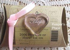 Longaberger Horizon Of Hope Basket Tie On 2006 Pink Heart With Ribbon