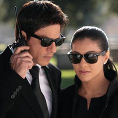 Shah Rukh Khan and Kajol on the sets - My Name is Khan (2010)