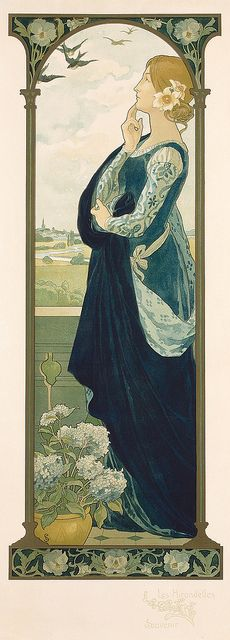 Elisabeth Sonrel (French, 1874 - 1953), Les Hirondelles; Souvenir, (The Swallows of Remembrance)