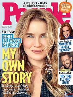 Renée Zellweger on the cover of PEOPLE