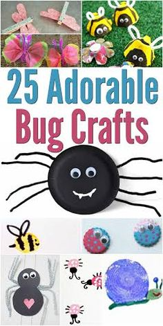 25 Adorable Bug Crafts Round-Up